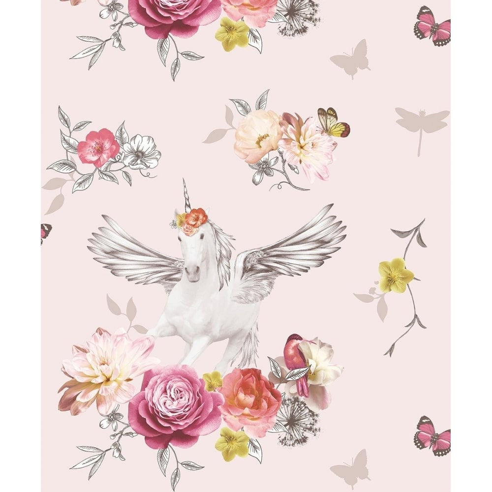 Arthouse Fantasia Anastasia Unicorn And Flowers Pink