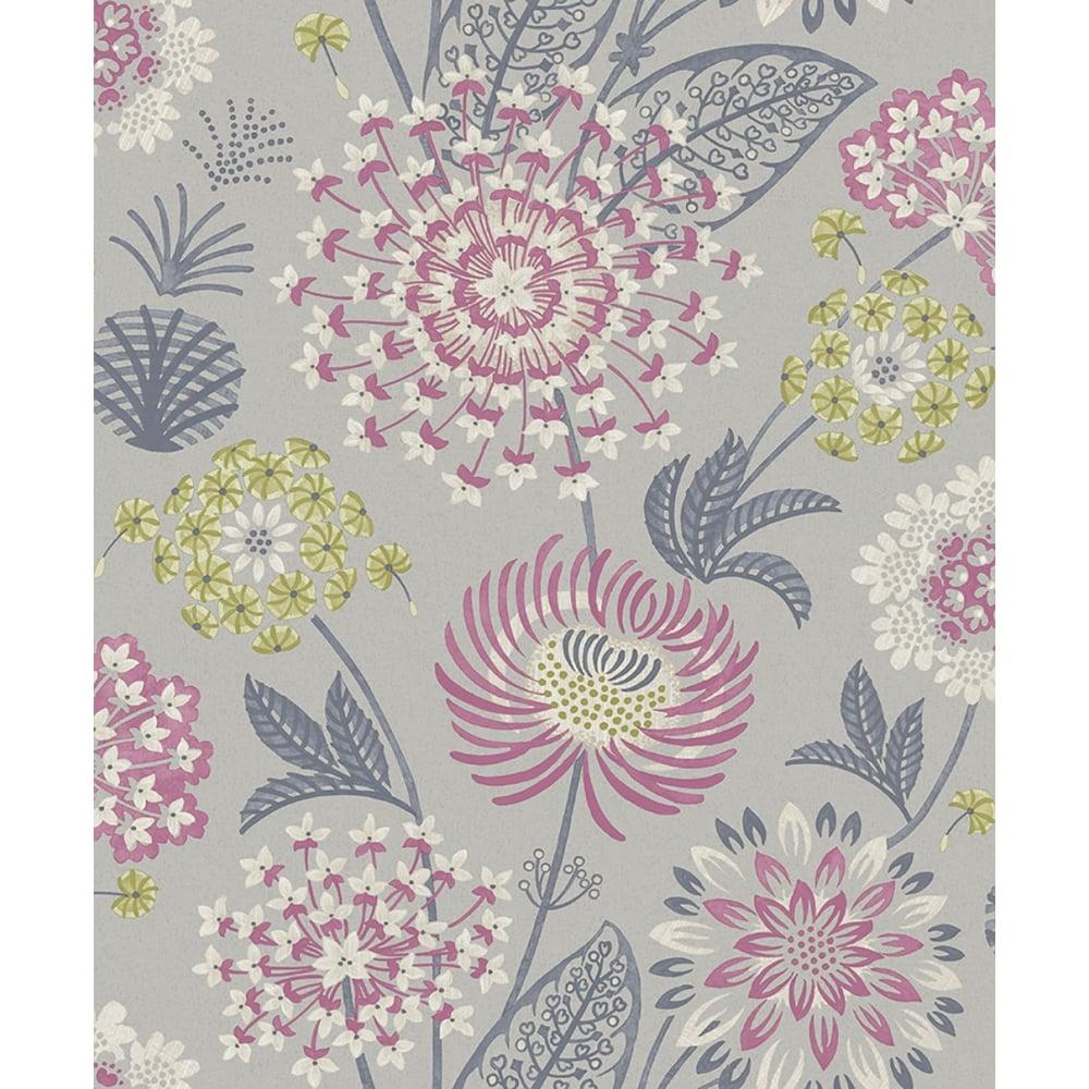 Arthouse Paradise Garden Mink Birds Butterflies Floral Glitter  Wallpaper 692402