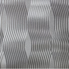Foil Wave Silver Metallic Wallpaper 294501