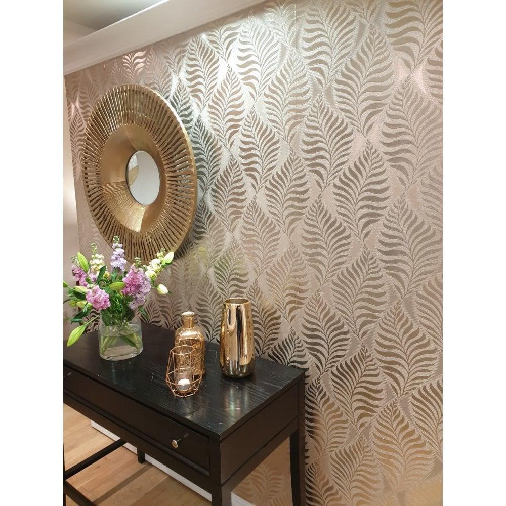 Metallic Reflective Foil Leaf Silver Wallpaper 901804