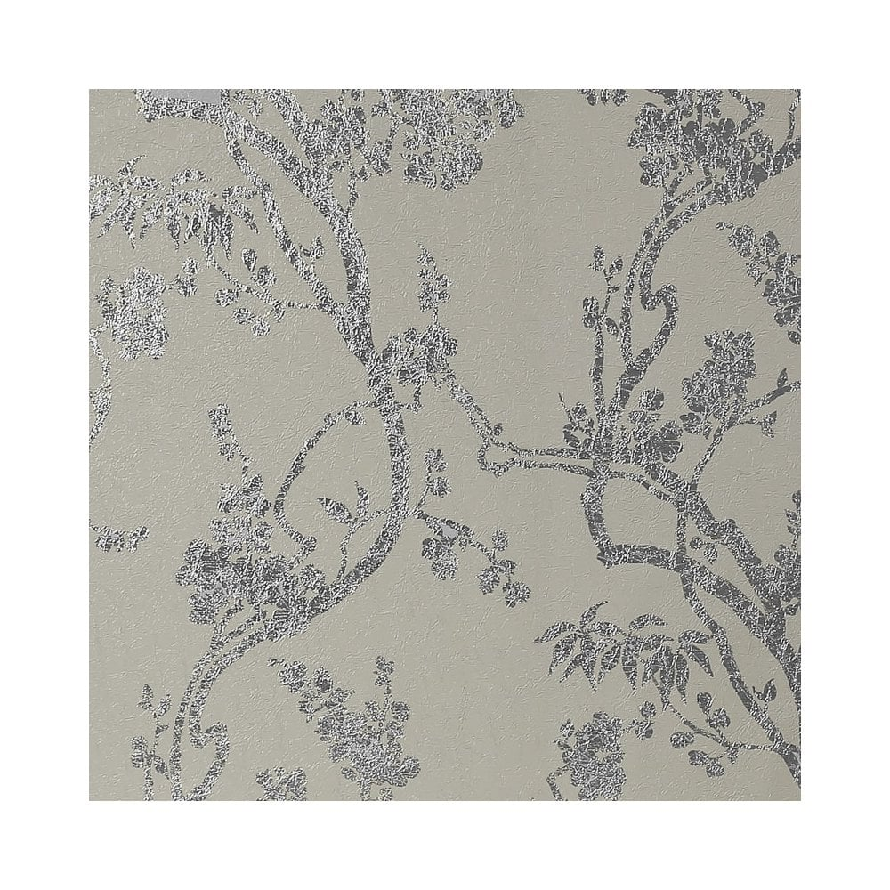Sundown Natural Gold Floral Foil Wallpaper 901803