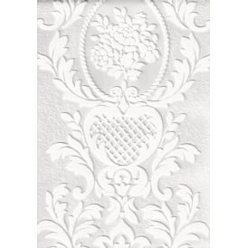 Anaglypta White Blown Paintable Embossed wallpaper 2616-18