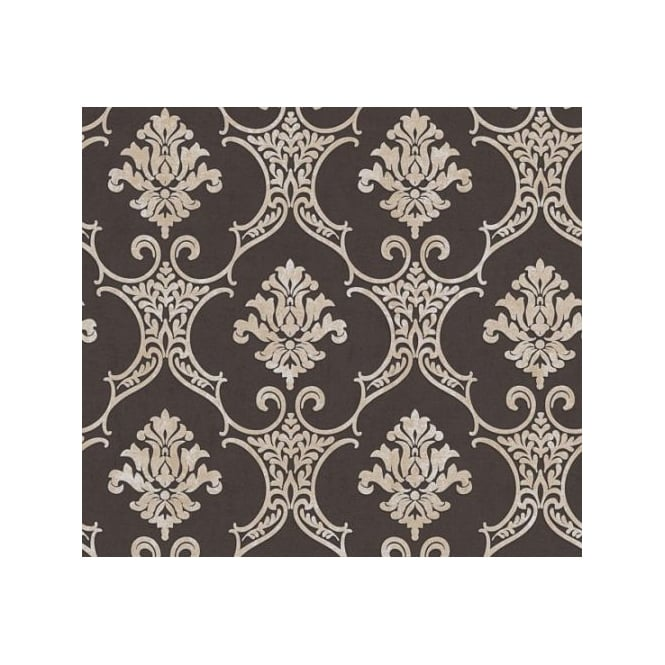 AS Creation Baroque Black And Beige Damask Wallpaper 32830-6