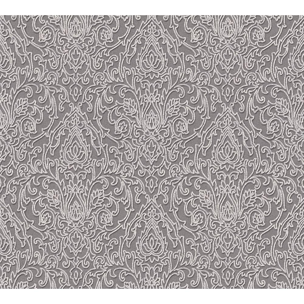 As Creation Belle Epoque Glitter Baroque Classic Grey Wallpaper