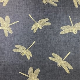 Black And Gold Dragonfly Luxury Wallpaper 35897-3