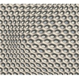 Black Grey And Beige Circle Geometric Wallpaper 32707-3
