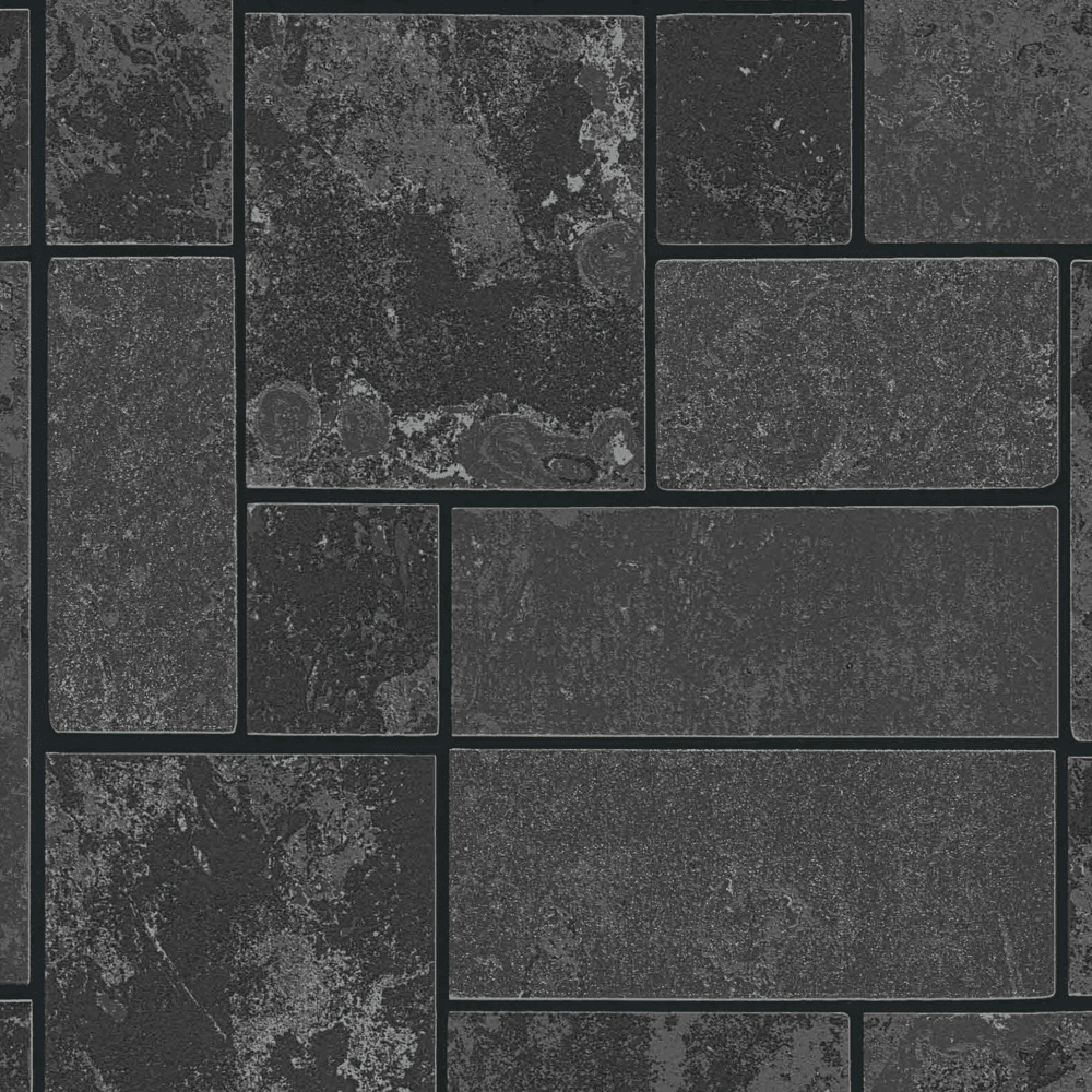 As Creation Marble Stone Slate Effect Black Charcoal Glitter