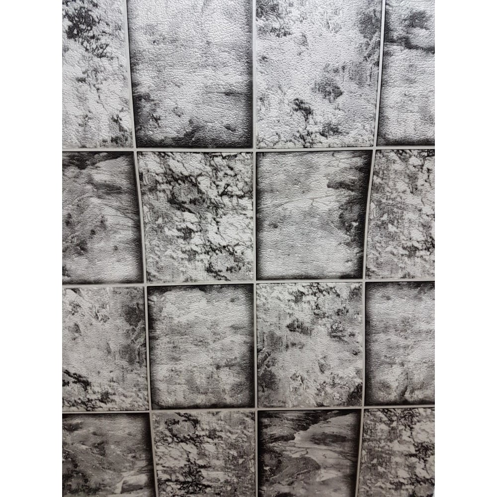 As Creation Marble Tile Effect Black Grey And White Kitchen And