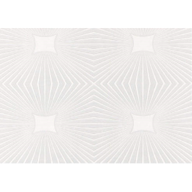 Square Starburst White Blown Paintable Wallpaper 6639-17