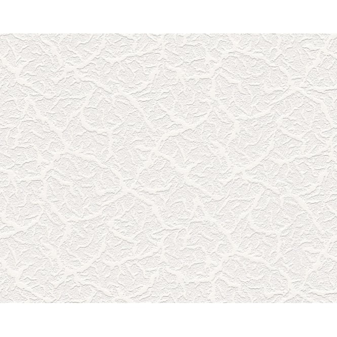 AS Creation Textured White Blown Paintable Embossed Wallpaper 9878-10