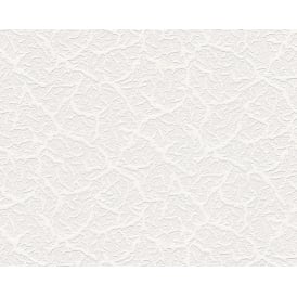 Textured White Blown Paintable Embossed Wallpaper 9878-10