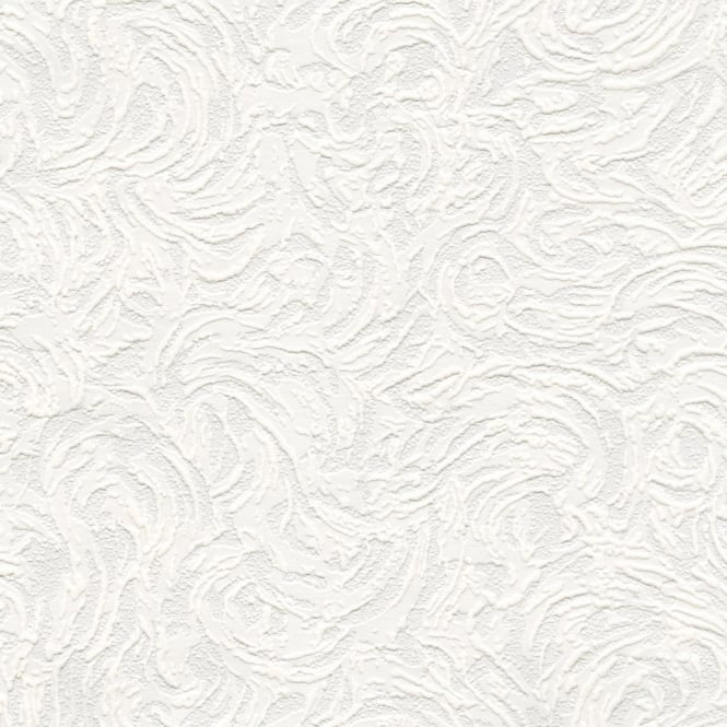 Belgravia Richmond Swirl Pattern Paintable Embossed Wallpaper 5806