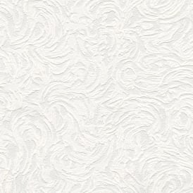 Richmond Swirl Pattern Paintable Embossed Wallpaper 5806