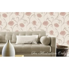 Seriano Finezza Pink Floral Italian Wallpaper 6132