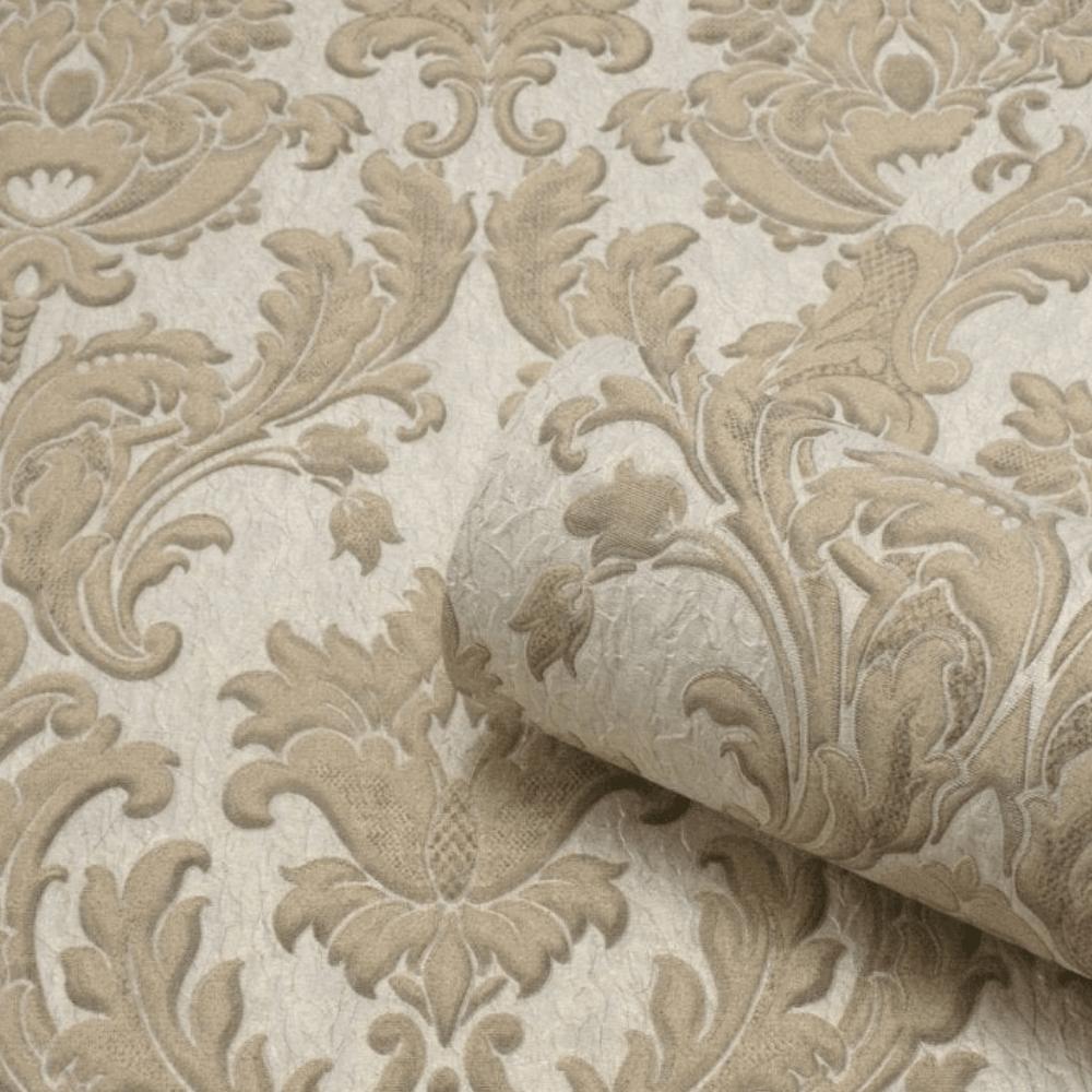 Belgravia Seriano Gold Corelli Italian Damask Textured Wallpaper 7792