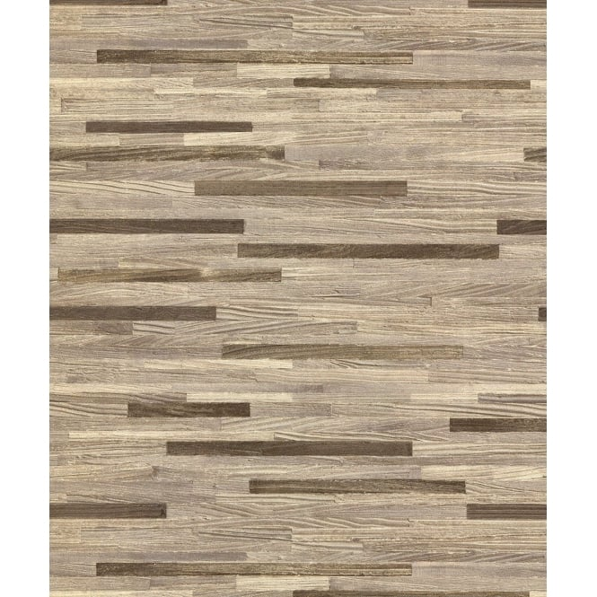 Belgravia Seriano Milana Beige Wood Grain Metallic Wallpaper 6801