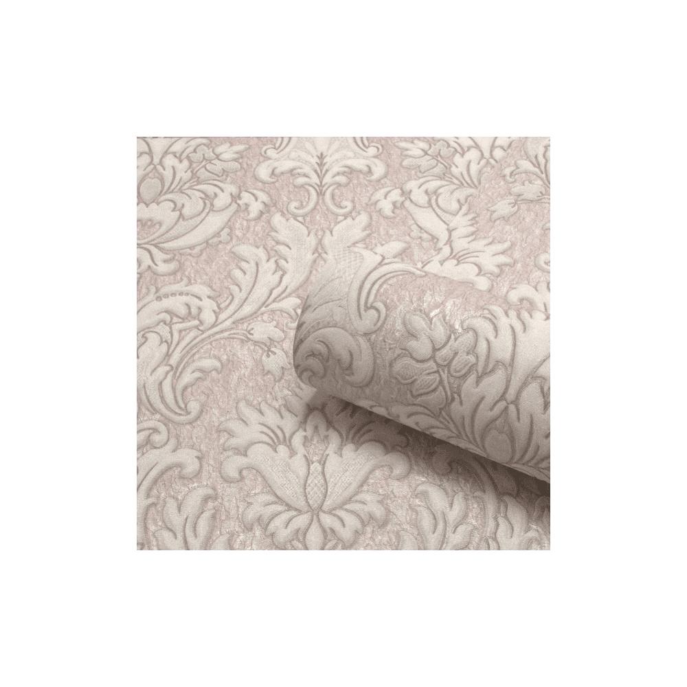 Belgravia Seriano Rose Pink Corelli Italian Damask Textured Wallpaper 7791