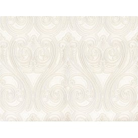 Belgravia Seriano White And Gold Kashmir Italian Wallpaper 5341
