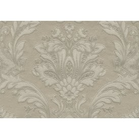 Serinao Damask Italinao Gold Beige Damask Wallpaper 5866