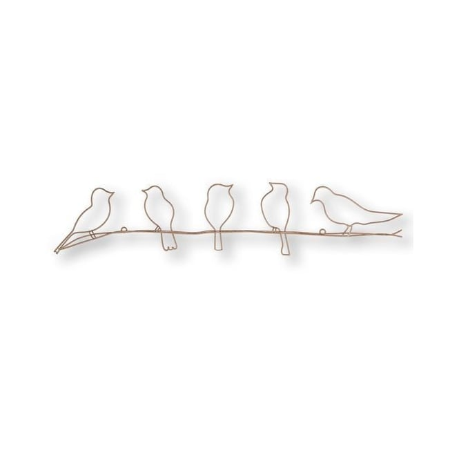 Birds On A Wire Rose Gold Wall Art 104040