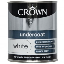 Crown 750ml Undercoat White Paint