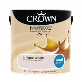 Crown Antique Cream 2.5l Matt Breay Easy Emulsion Paint