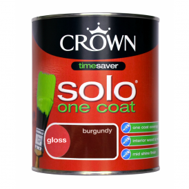 Crown Burgundy One Coat Solo Gloss Paint 750ml
