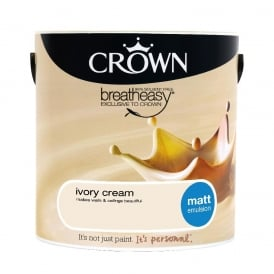 Crown Ivory Cream 2.5L Matt Breay Easy Emulsion Paint