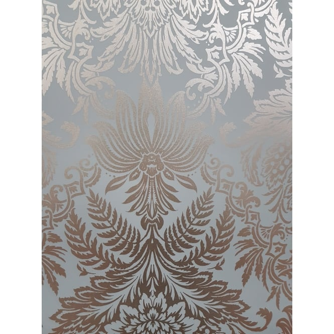 Crown Wallpaper Crown Signature Rose Gold Foil Damask Wallpaper m1389