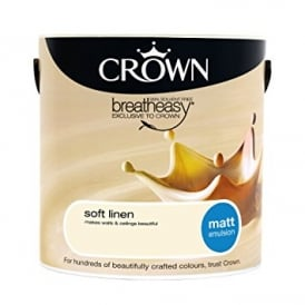 Crown Soft Linen 2.5L Matt Breay Easy Emulsion Paint