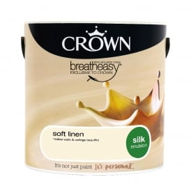 Crown Soft Linen 2.5L Silk Breath Easy Emulsion Paint