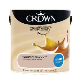 Crown Toasted Almond 2.5L Matt Breay Easy Emulsion Paint