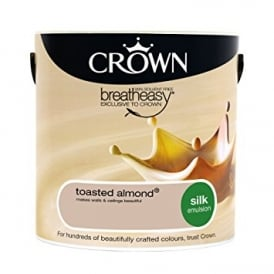 Crown Toasted Almond 2.5L Silk Breath Easy Emulsion Paint