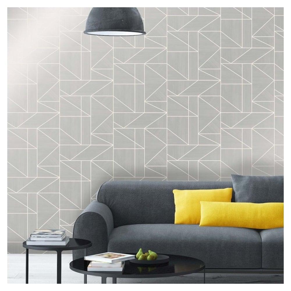 Alexis Silver crown wallpaper alexis silver geometric wallpaper m1381