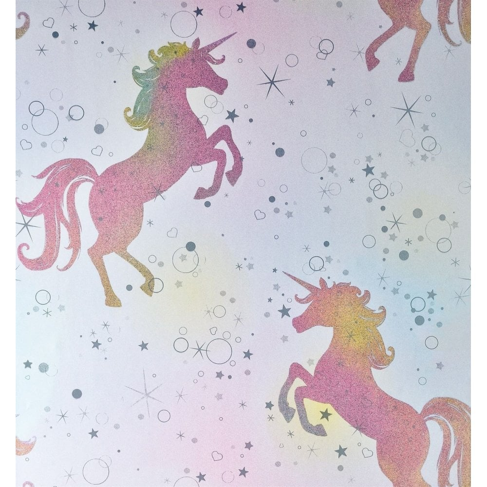Crown Wallpaper Coloroll Be Dazzled Dancing Unicorn ...