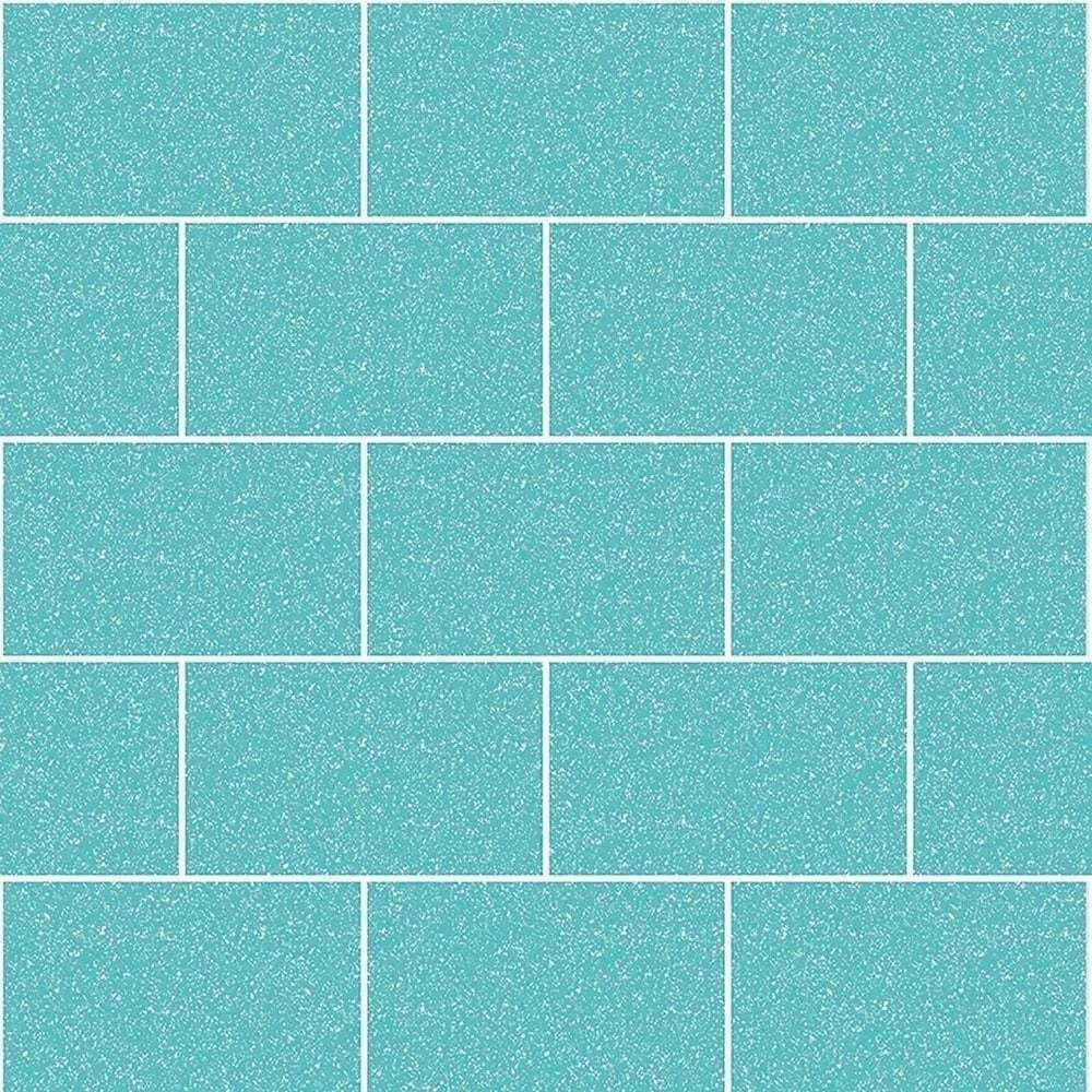 bathroom tile wallpaper  Crown Wallpaper Crown London Tile Aqua Glitter Kitchen And Bathroom ...