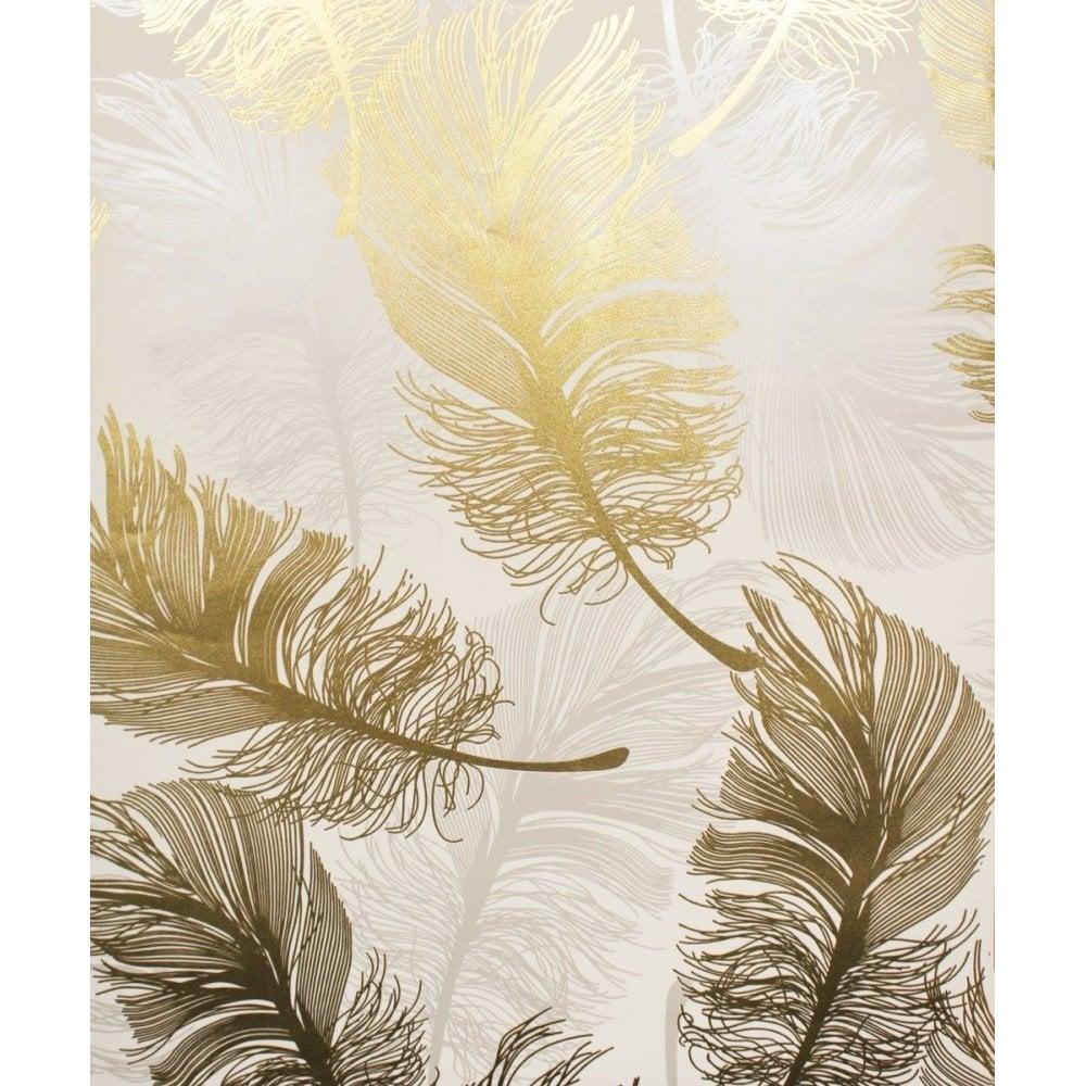 crown wallpaper crown plume metallic foil gold leaf