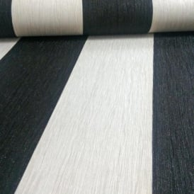 Crystal Glitter Stripe Black And Ivory Wallpaper 9011