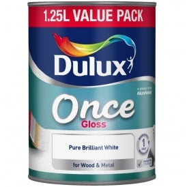 Dulux 1.25L Once Gloss Paint Brilliant White