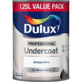 Dulux 1.25L Professional Undercoat Brilliant White Paint