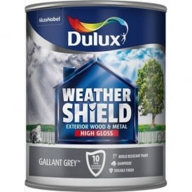Dulux Gallant Grey Weathershield Quick Dry Paint 750ml