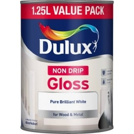 Dulux Non Drip Gloss Brilliant White 1.25L