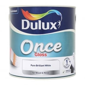Dulux Once One Coat Gloss Brillant White 2.5L
