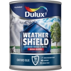 Dulux Oxford Blue Weathershield Quick Dry Paint 750ml