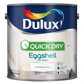 Dulux Quick Drying Eggshell Brillant White 2.5L