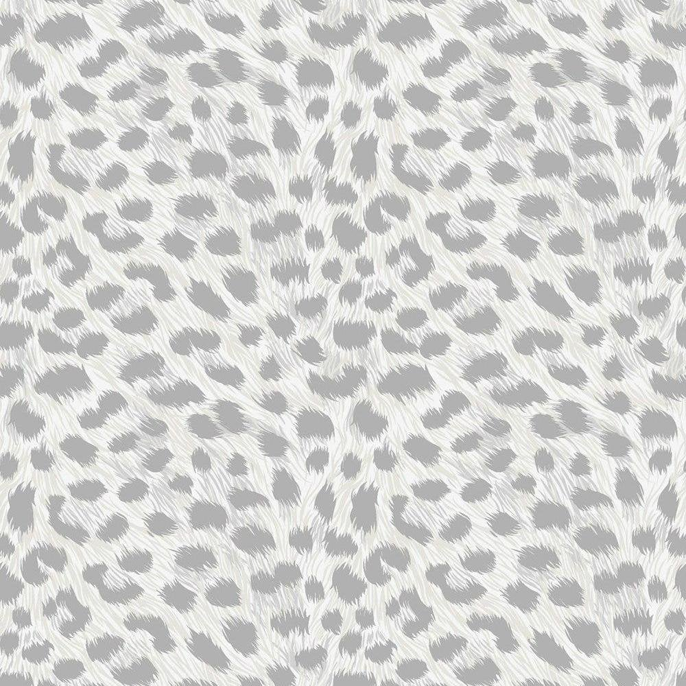 Fine Decor Animal Fur Print Grey Wallpaper Fd42466