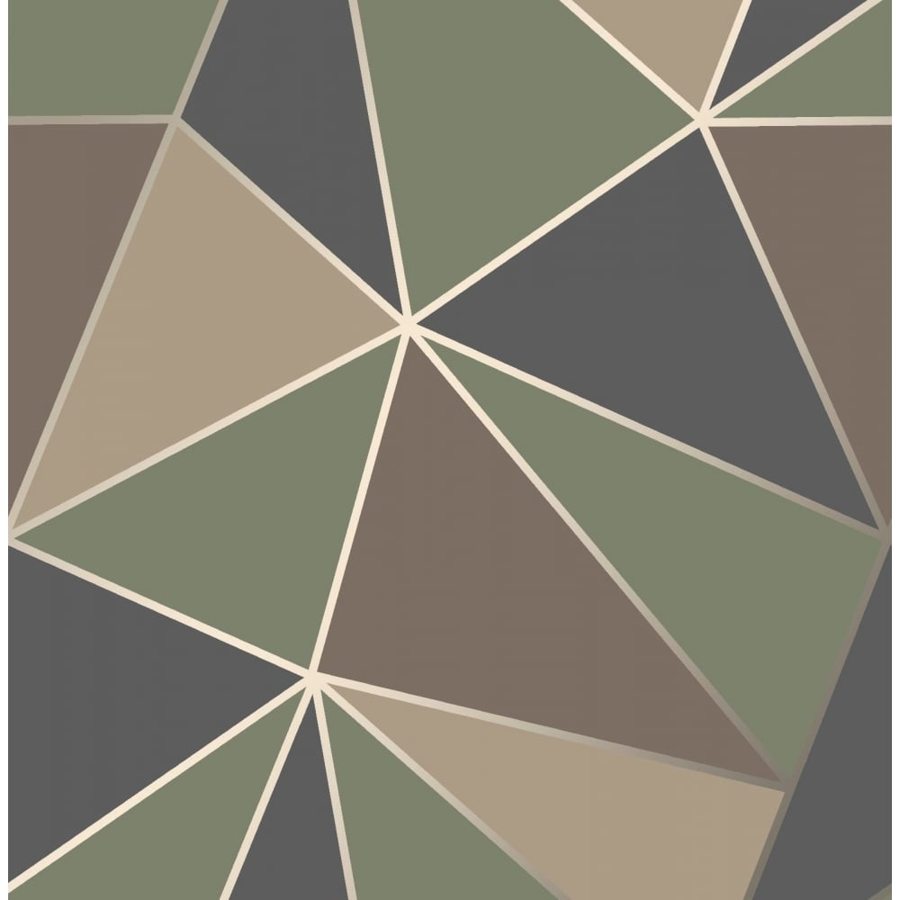 Fine Decor Apex Blue Green And Brown Apex Wallpaper