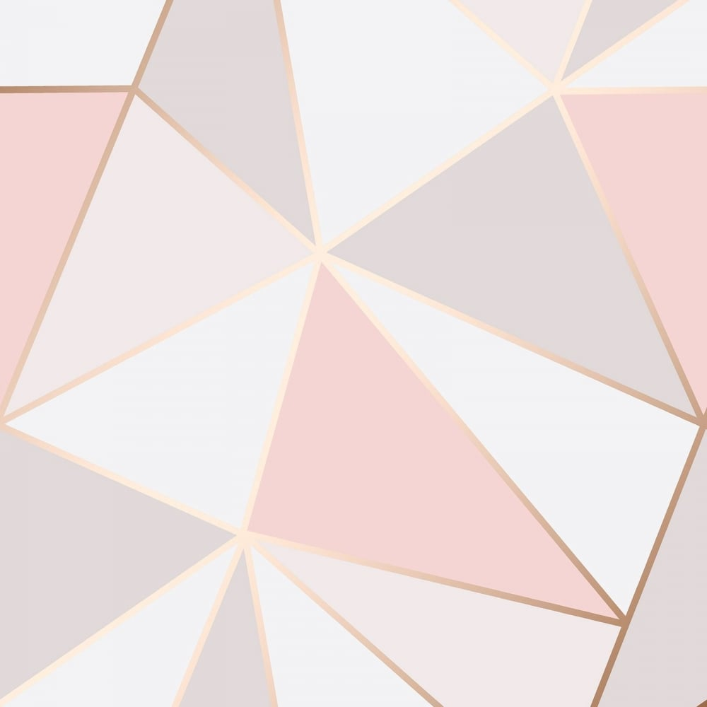 Apex Geometric Rose Gold Wallpaper Fd41993
