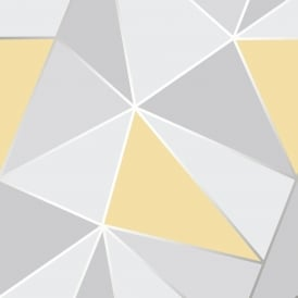Apex Geometric Yellow And Grey Wallpaper Fd41991