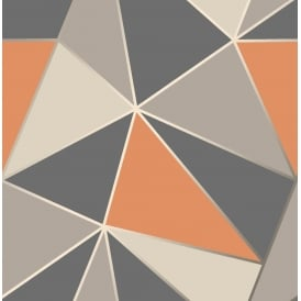 Fine Decor Apex Orange Grey And Blue Apex Wallpaper FD42002